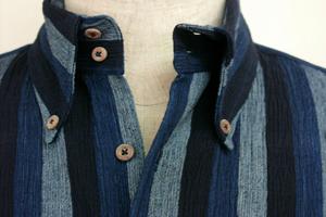 カツオ縞楊柳ボタンダウンシャツ.jpg